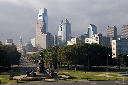 Philly as seen from Logan Circle (by Alotor)